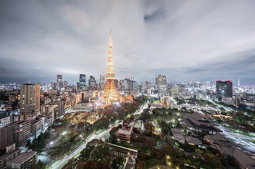 Tokyo Tower「Tokyo - Japan」:スマホ壁紙(11)