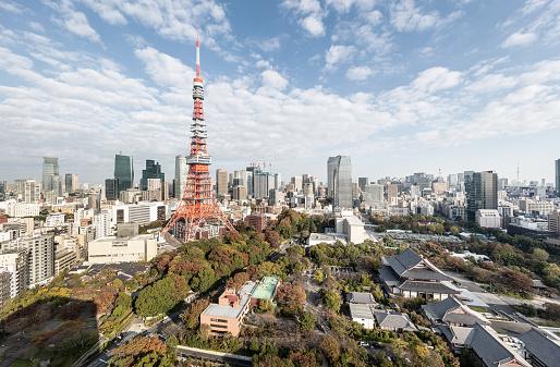 Tokyo Tower「Tokyo - Japan」:スマホ壁紙(3)