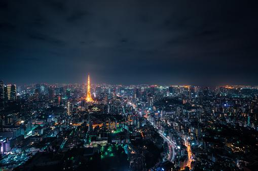Tokyo Tower「Tokyo, Japan Skyline」:スマホ壁紙(7)