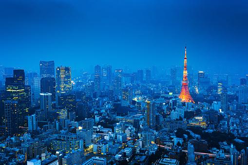 Tokyo Tower「Tokyo, Japan Skyline」:スマホ壁紙(0)