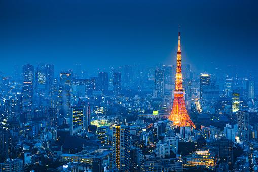 Tokyo Tower「Tokyo, Japan Skyline」:スマホ壁紙(9)