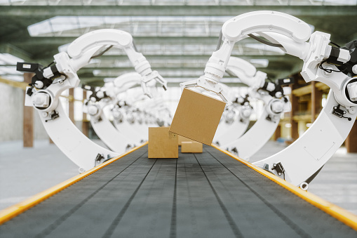 Shipping「Automated Warehouse With Robotic Arms」:スマホ壁紙(16)