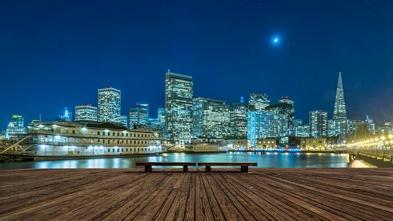 Pier「skyline of San Francisco at night」:スマホ壁紙(9)