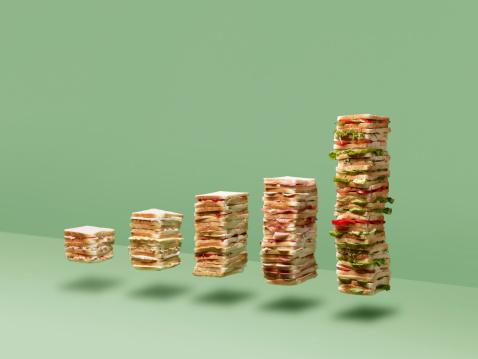 Colored Background「Bar chart made if sandwich's」:スマホ壁紙(17)
