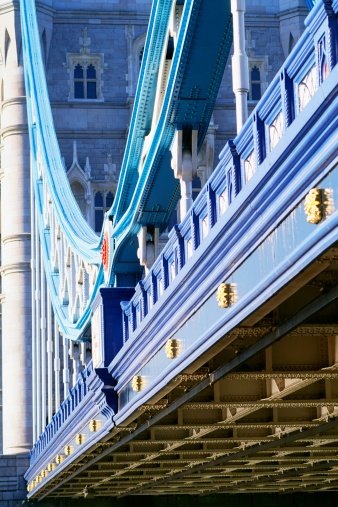 London Bridge - England「Close-up detail of the Tower Bridge; London, England.」:スマホ壁紙(8)