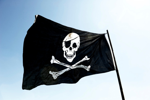 Human Skull「Pirate Flag」:スマホ壁紙(11)