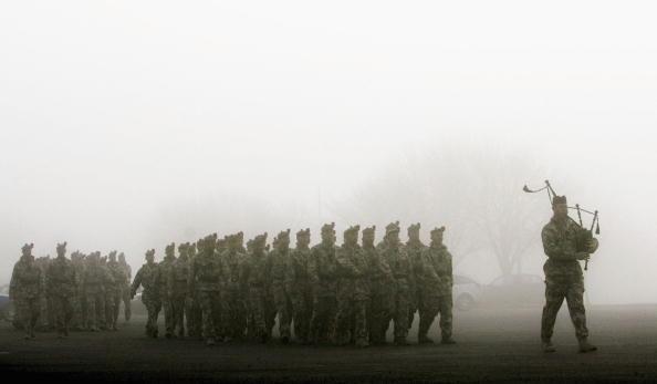 Bagpipe「Black Watch Troops Return To Warminster Barracks」:写真・画像(18)[壁紙.com]