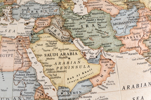 Iran「Maps of countries in Middle East」:スマホ壁紙(4)