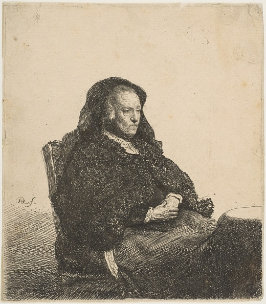 Furniture「The Artists Mother Seated At A Table Looking Right: Three-Quarter Length」:写真・画像(7)[壁紙.com]