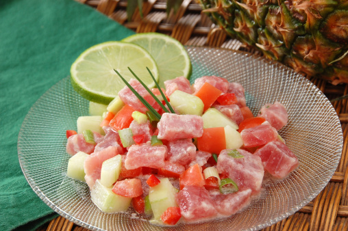 Appetizer「Poussin cru or raw fish with pineapple」:スマホ壁紙(12)