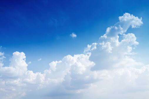 Meteorology「Naturally blue sky with some clouds」:スマホ壁紙(1)