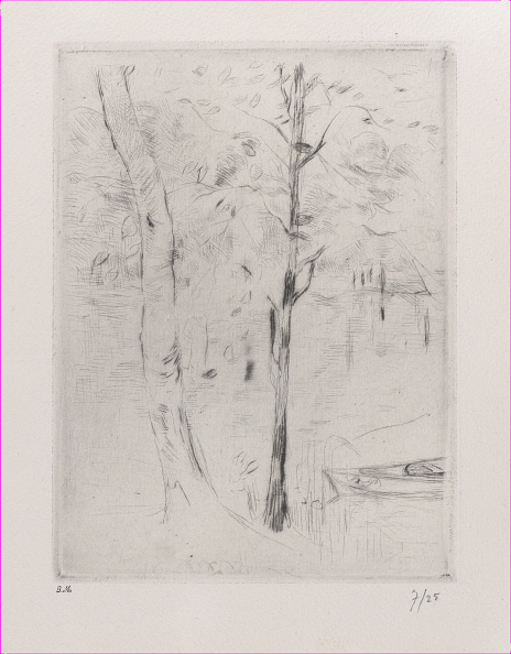 1880-1889「Landscape (Tree-Trunks Near A River)」:写真・画像(10)[壁紙.com]