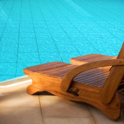 Deck Chair「Swimming pool summer vacation image」:スマホ壁紙(8)