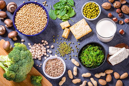 Broccoli「Various kinds of vegan protein sources」:スマホ壁紙(1)