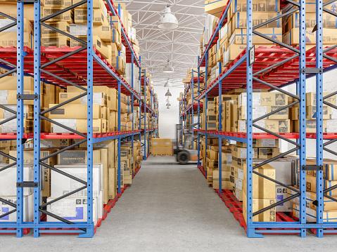 Rack「Forklift working in warehouse」:スマホ壁紙(18)