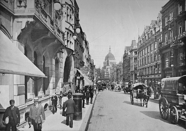 Recreational Pursuit「Fleet Street, City of London, c1900 (1911)」:写真・画像(1)[壁紙.com]