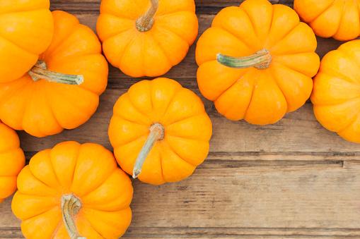 Pumpkin「Overhead view of yellow pumpkins」:スマホ壁紙(14)