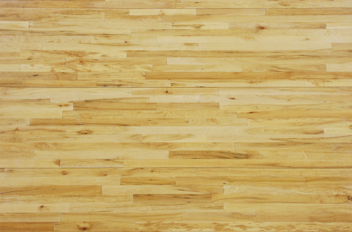 Knotted Wood「Overhead View of a Wooden Basketball Floor」:スマホ壁紙(6)