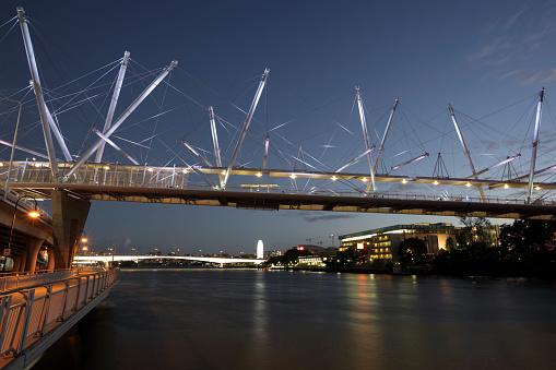 Footbridge「Kurilpa foot bridge」:スマホ壁紙(6)