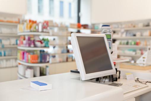 Pharmacy「Prescription and drug lying on counter of a pharmacy」:スマホ壁紙(14)