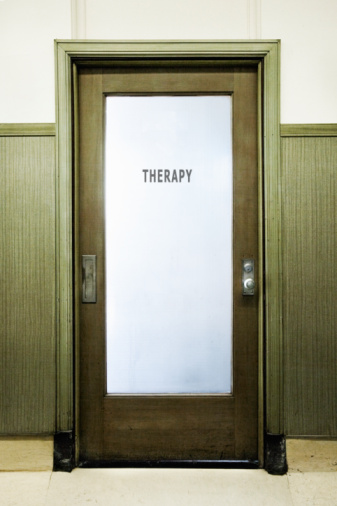 Single Word「'Therapy' sign on door」:スマホ壁紙(7)