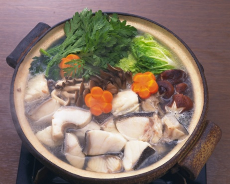 Pollock - Fish「Vegetable and cods in pot, high angle view」:スマホ壁紙(8)