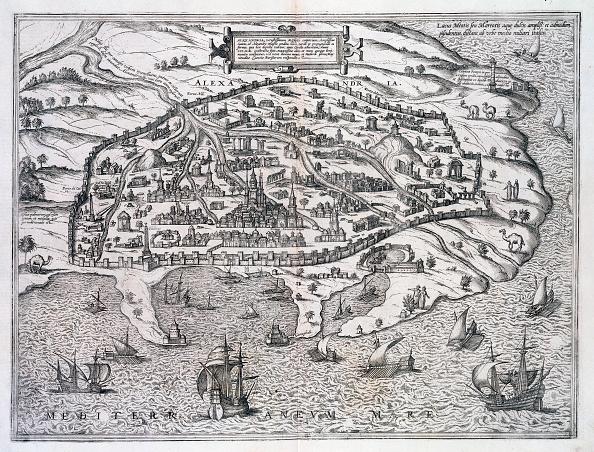 Mediterranean Sea「Map Of Alexandria Egypt circa 1625」:写真・画像(5)[壁紙.com]