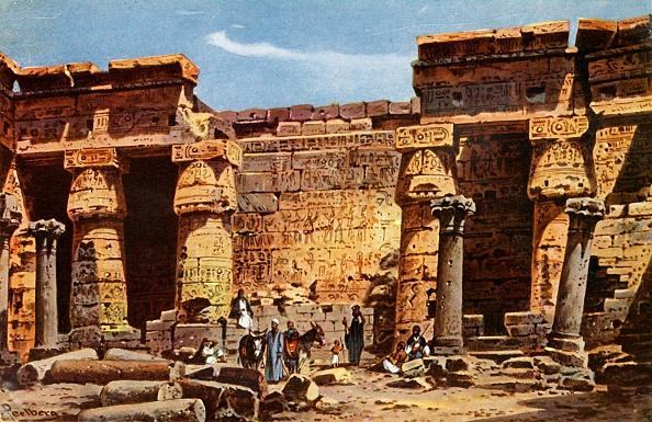 Courtyard「Courtyard Of The Temple Of Medinet Hobou」:写真・画像(9)[壁紙.com]