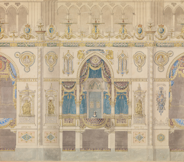 Plan - Document「Elevation Of The Royal Box For The Coronation Of Louis Xviii」:写真・画像(11)[壁紙.com]