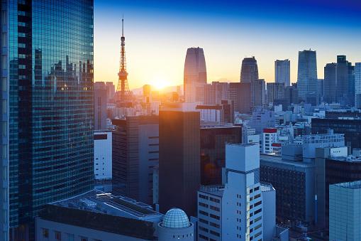 Tokyo Tower「Tokyo Skyscraper and Tokyo Tower」:スマホ壁紙(8)