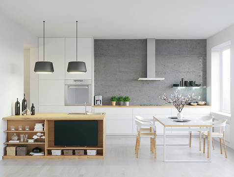 Stone Material「Modern kitchen」:スマホ壁紙(13)