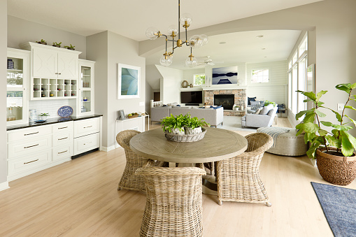 Standing Water「Modern Kitchen Living Room Hone design with open concept」:スマホ壁紙(5)