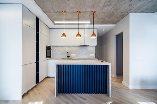 Kitchen Island「Modern kitchen front view」:スマホ壁紙(10)