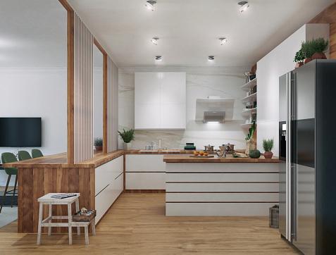 Kitchen Island「Modern Kitchen」:スマホ壁紙(14)