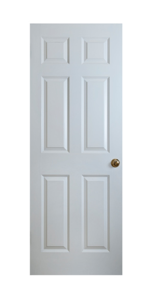 Handle「White Wood Door With Clipping Path」:スマホ壁紙(15)