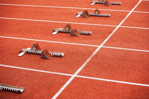 Effort「Some starting block on running track」:スマホ壁紙(14)