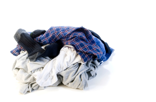 Heap「Pile of dirty laundry on white background」:スマホ壁紙(6)
