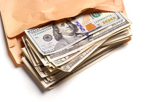 American One Hundred Dollar Bill「US Dollars in brown envelope」:スマホ壁紙(17)