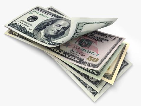 American One Hundred Dollar Bill「US banknotes in different denominations」:スマホ壁紙(7)