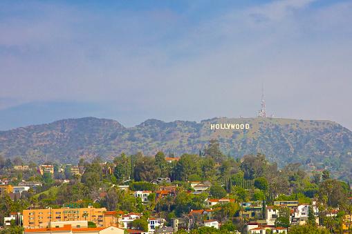 コースト山脈「Hollywood sign on mountain」:スマホ壁紙(3)