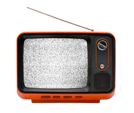 Inconvenience「Old orange television with interruption」:スマホ壁紙(7)