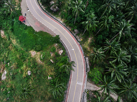 Hairpin Curve「Winding road in Thailand」:スマホ壁紙(9)