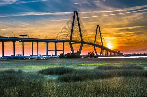 River「The New Cooper River Bridge」:スマホ壁紙(3)