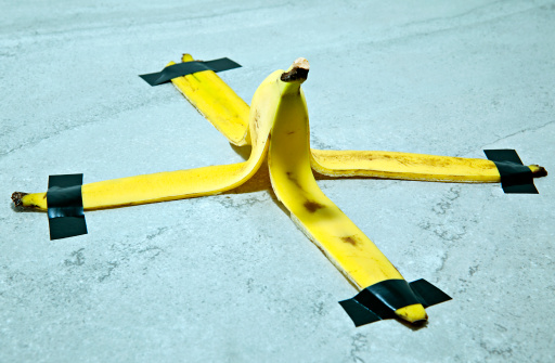 Insurance「Banana peel taped down to the floor」:スマホ壁紙(0)