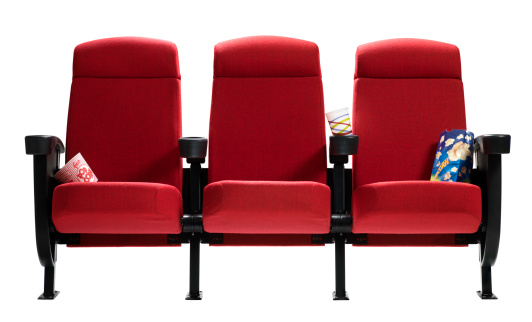 Entertainment Event「Three Theater Seats with popcorn bags, Isolated」:スマホ壁紙(3)