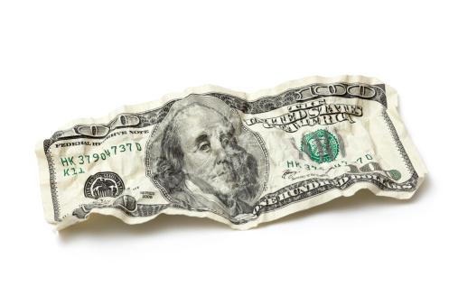 American One Hundred Dollar Bill「Crumpled Hundred Dollar Bill」:スマホ壁紙(11)