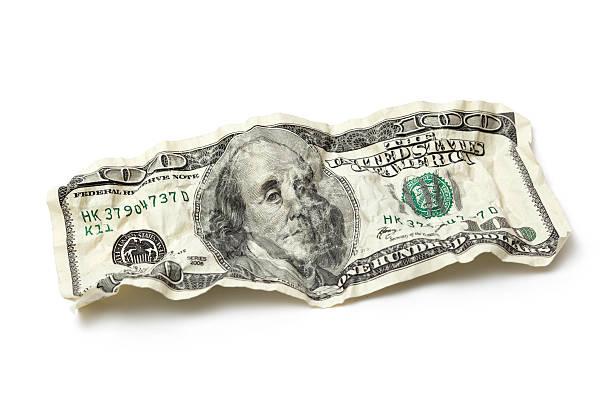 Crumpled Hundred Dollar Bill:スマホ壁紙(壁紙.com)