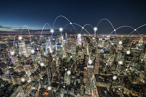 Internet of Things「The Night View of Smart City / Manhattan, NYC」:スマホ壁紙(13)