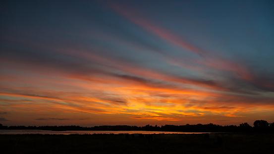 North Brabant「Sunset in Dutch Biesbosch National Park」:スマホ壁紙(0)