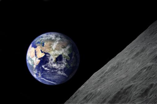 Moon「earth from moon」:スマホ壁紙(15)
